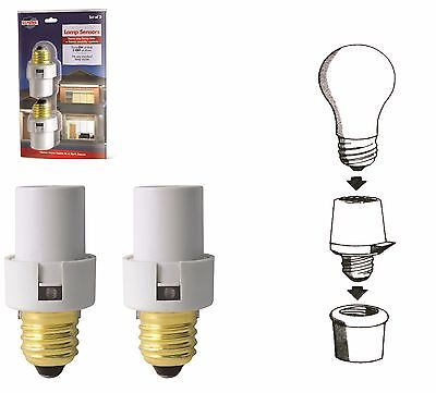 2 Automatic Lamp Sensors Dusk to Dawn Security Light Switch System Socket