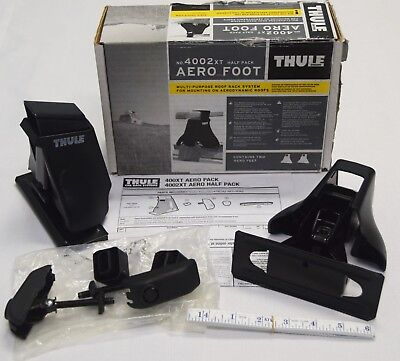THULE Aero Foot Half Pack 4002XT Rack System Cars w/o Gutters or Racks OPEN BOX