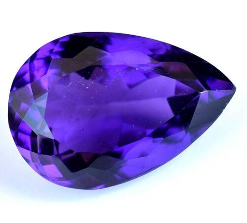 14.80 Ct Natural Purple African Amethyst Gemstone Untreated Sparkling Certified