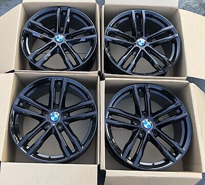"""19"""" Bmw 3 and 4 series F30 F31 F32 F33 F36 black Original factory rims m704 OEM"""
