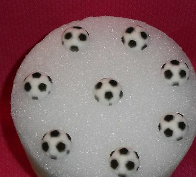 Soccer Ball Edible Cupcake Toppers, Molded Sugar,DecoPac,Black/White, 8 ct. - Soccer Cupcake Toppers