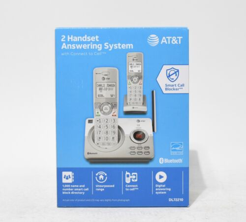 AT&T - 2 Handset Connect to Cell Answering System with Unsurpassed Range
