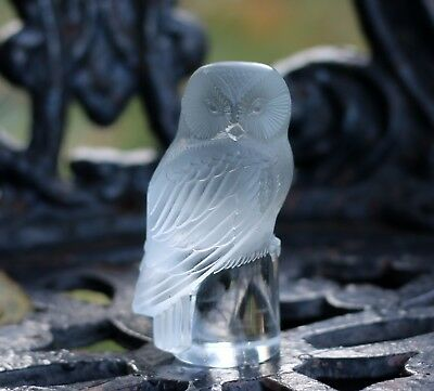 Authentic Rene R. Lalique Chouette Owl Paperweight RARE! for sale  Herndon