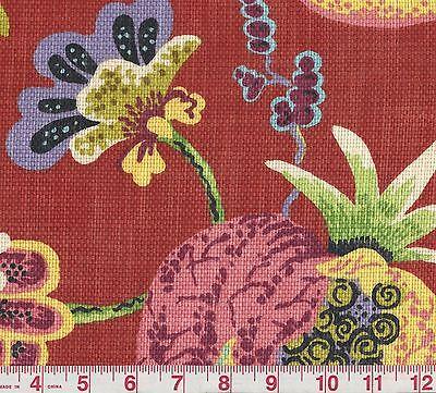 Ткань Braemore Wonderland Ruby Floral Upholstery