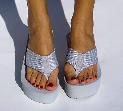 Women Slippers Thongs Flip Flops Wedges Beach Platform High Heel Sandals Beach Wedge Women Flip Flops