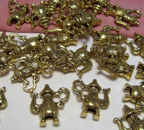 50 Gold 3-D Teapot Charms-Tea Party-Tea Time-Alice In Wonderland-Jewelry Making