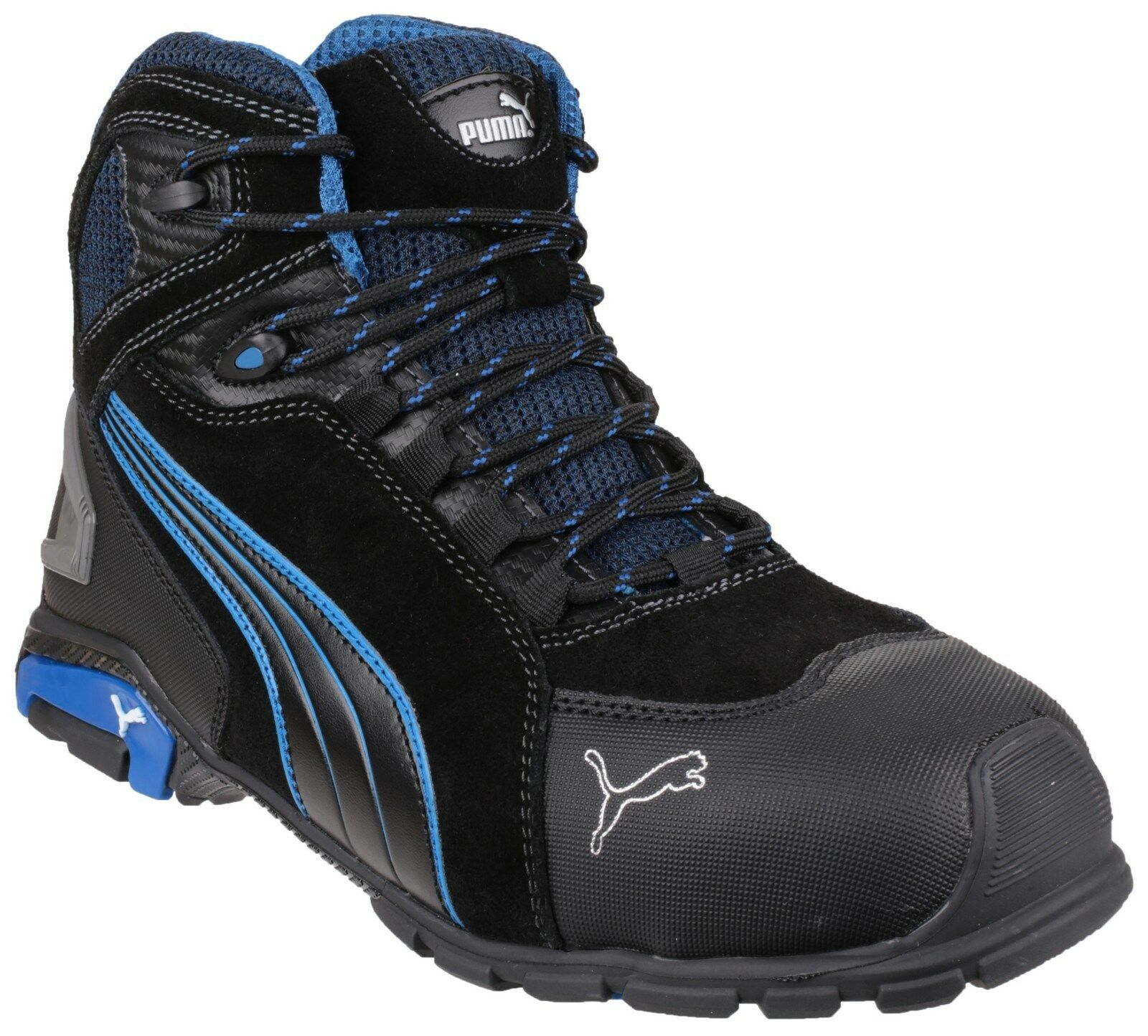 Details about Puma Rio Mid Safety Mens Aluminium Toe Cap Industrial Work Boots UK6 12