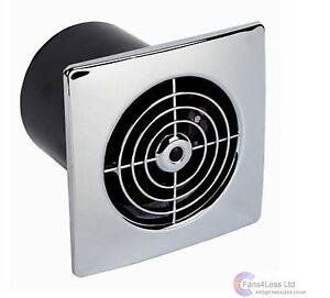 Lp100stc 100mm cromo profilo basso timer ventola for Ventola aspirazione bagno