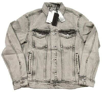 Superdry Men's Ramone Ice Vintage Gray Highwayman Trucker Denim Jacket $109