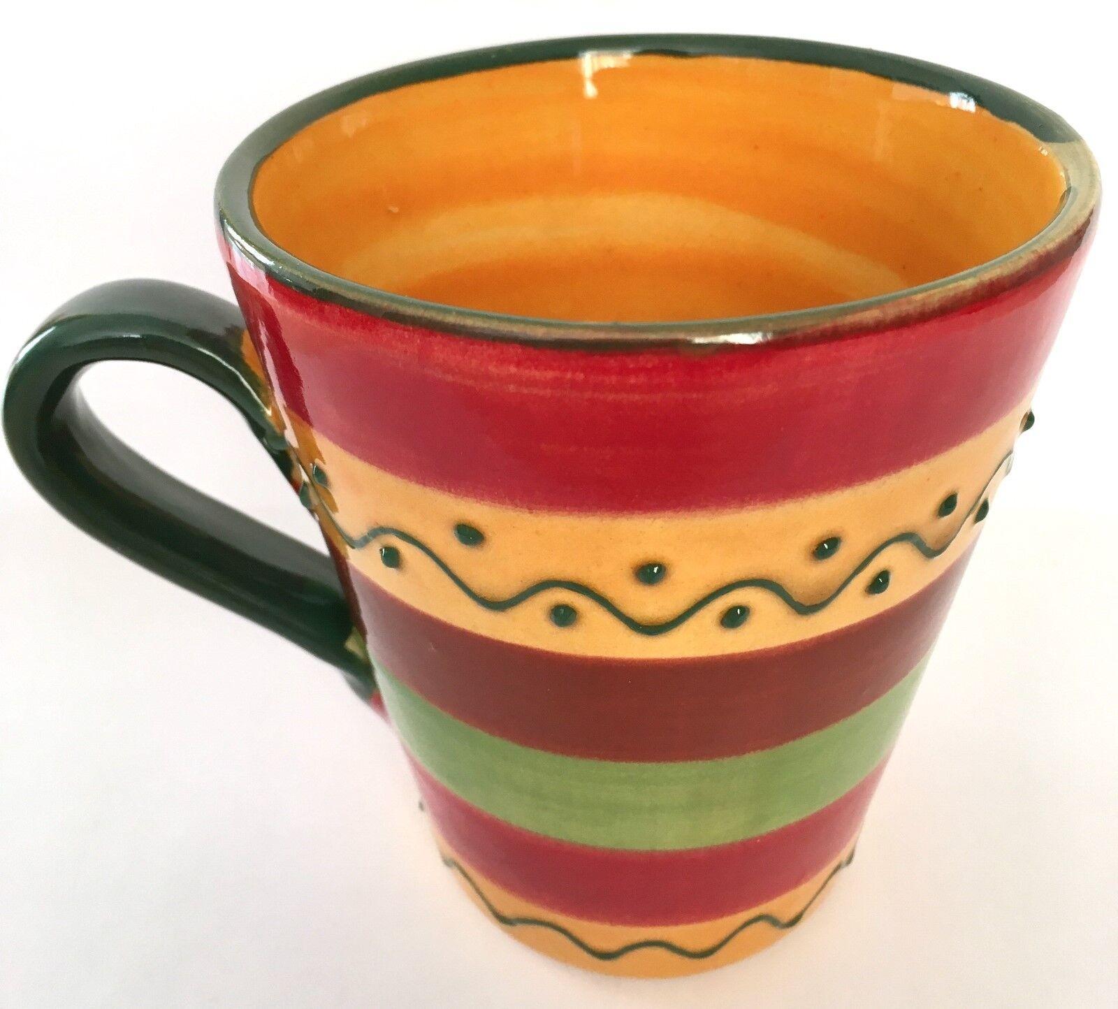 Tasse, Kaffeebecher, spanische Keramik, versch. Farben/Muster, Handarbeit