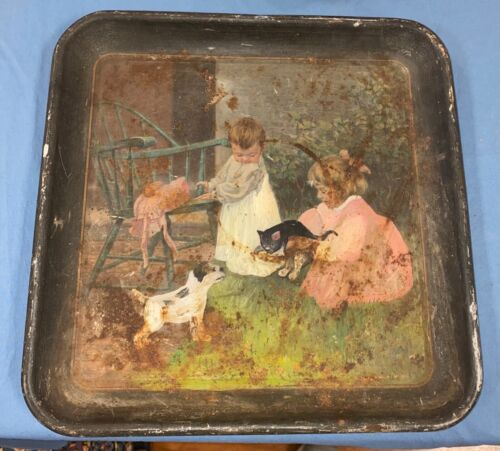 1910 BREWING TIN LITHOGRAPH SERVING TRAY Collectors Estate 13""