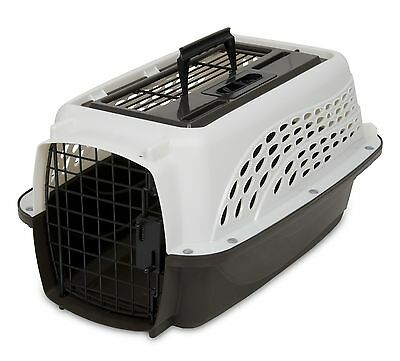 """19"""" Two Door Top Load Pet Kennel Carrier Travel Crate Cage Dog Puppy Cat w Small"""