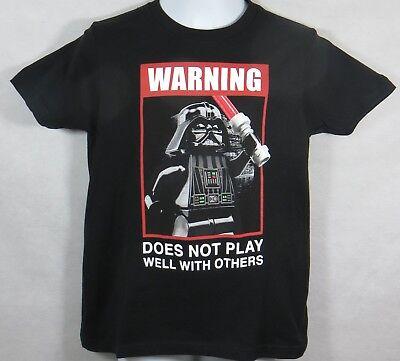 Lego Star Wars Boys T-Shirt Officially Licensed Darth Vader New Black New Boys Star Wars Lego