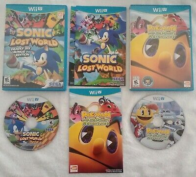 2 Wii U Games: Sonic Lost World & Pac-Man and the Ghostly Adventures CIB