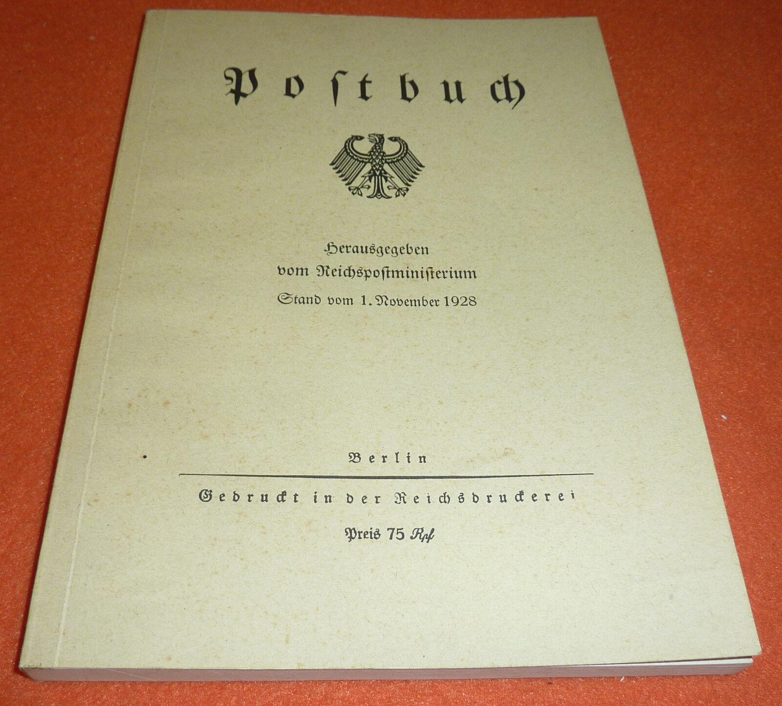 Postbuch Reichspostministerium 1928 Gebühren etc. Handbuch Spezial-Katalog