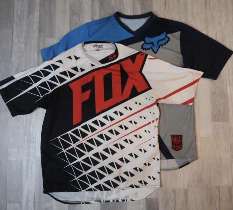 Lot Of 2 FOX Racing Cycling MTB Jerseys