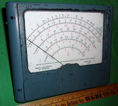 Rca Volt Ohm Meter Movement Meter Only 8 12 X 7 Inch P276511-3 Rev 2 1940s