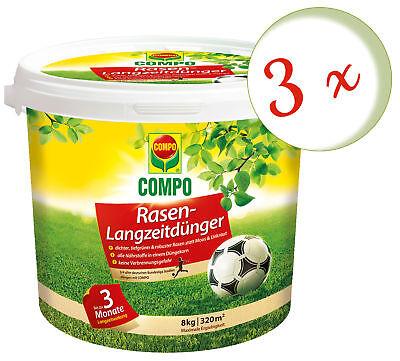 Savings Set: 3 X Compo Rasendünger-langzeitdünger, 8 KG