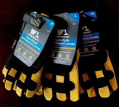 Wells Lamont Mens Hydrahyde Leather Work Gloves Select Size M L Xl