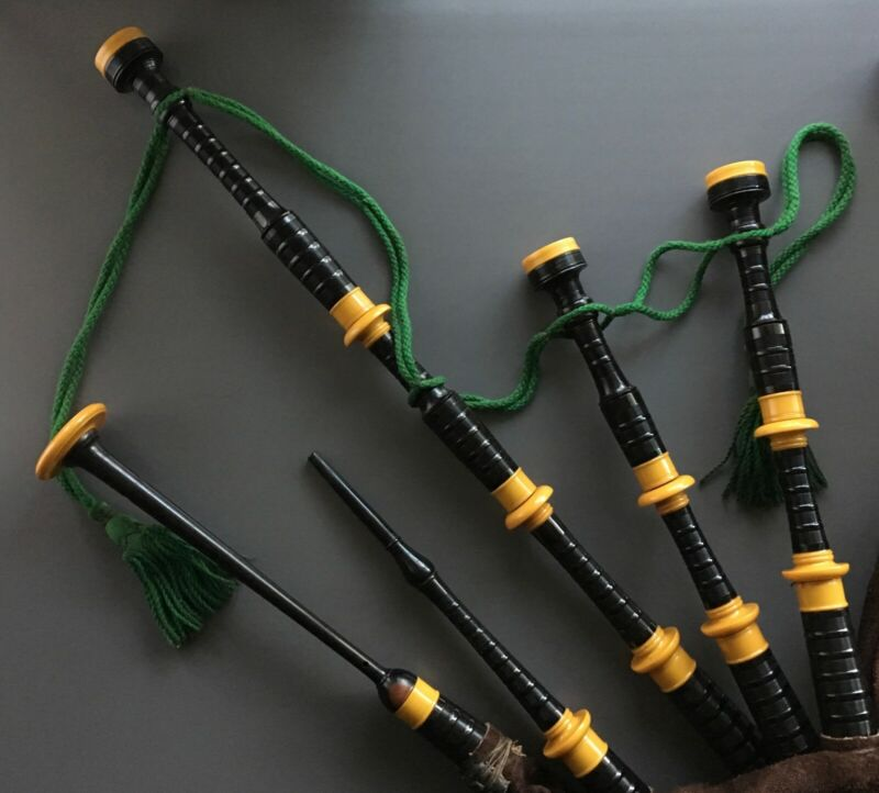 Vintage Bagpipes made by W. Sinclair & Son Leith Scotland