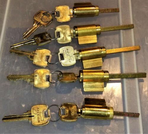 5 Lot of Falcon Lock Cores with keys LockSmith
