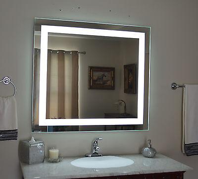 Lighted bathroom vanity mirror  led   wall mounted  48 quot  Wide x 40 quot  Tall MAM84840. Lighted bathroom vanity mirror  led   wall mounted  48 amp  034  Wide