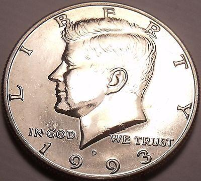 UNITED STATES UNC 1993 D KENNEDY HALF DOLLAR