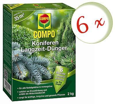Savings Set: 6 X Compo Koniferen Long-Term, 2 KG