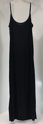 Boohoo Womens Plus Sleeveless Slinky Strappy Maxi Dress Black US:20/UK/24 NWT #