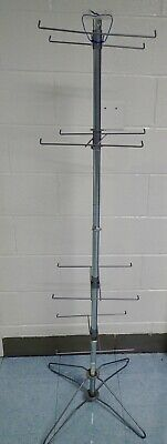 Retail 4-tier Spinning Wire Rack Midway Displays - Stand For Carded Merchandise