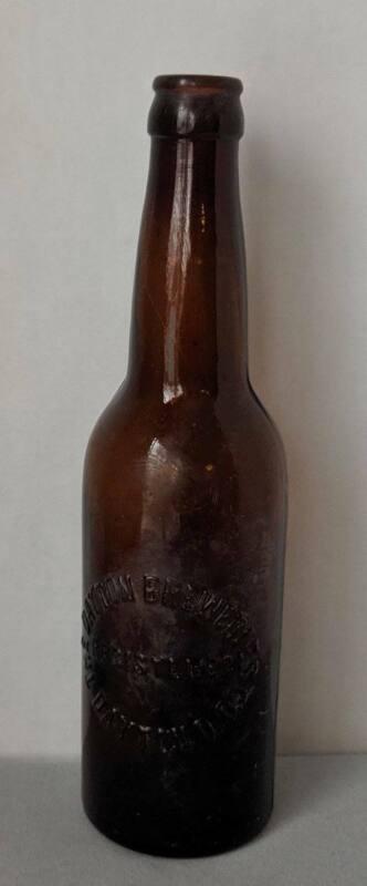 Vintage The Dayton Breweries Brown Beer Bottle