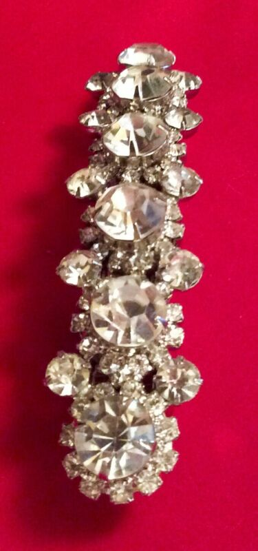 Vintage Rhinestone Hair Barrette Made In France