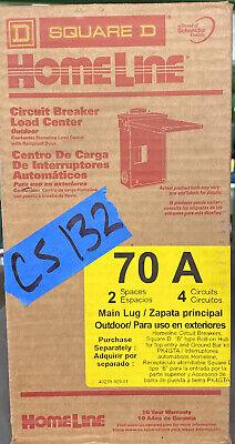 Square D 70 Amp Load Center Circuit Breaker Box Outdoor Hom24l70rbcp 2 Sp 4 Cir