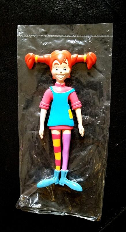 VINTAGE 1997 PIPPI LONGSTOCKING MOVIE PROMO FIGURE ANIMATED FILM TOY DOLL
