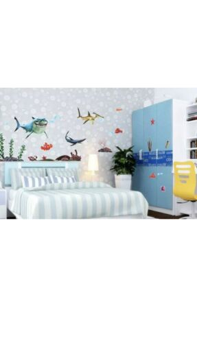 Home Decoration - Ocean fish shark whale Home Room Decor Removable Wall Stickers Decal Decoration