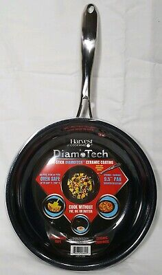 """Harvest Cookware DiamoTech Non-Stick Ceramic Coating 9.5"""" Pan ~Strong & Durable"""