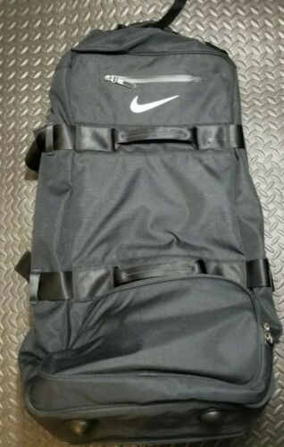 Nike Fiftyone 49 Luggage Large Travel Roller Bag Wheeled Rolling Suitcase Black  - $128.50