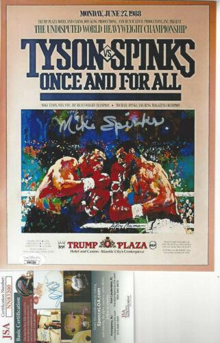 Boxer  Michael Spinks autographed 8x10 pre fight 1988 photo vs Mike Tyson JSA