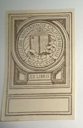 University Of California  Ex Libris Bookplate
