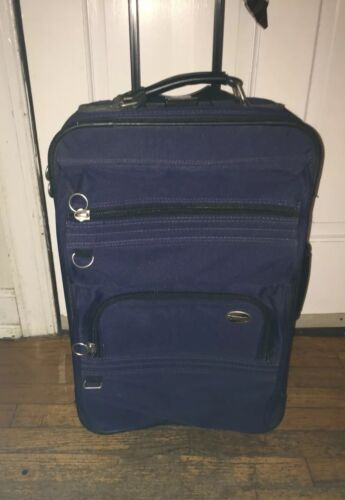 American Tourister Softside 21 Carry-On Blue Luggage Travel Bag Tote ROLLER - $22.09