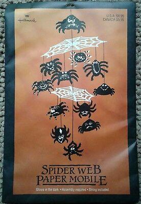 Halloween Spider Web Cut Out (Hallmark Halloween Vintage Spider Web paper mobile glows in dark die cut out)