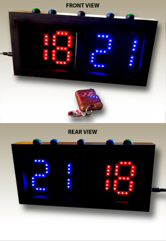 "Double Sided Scoreboard (3"" digits) - Remote & Direct Control"