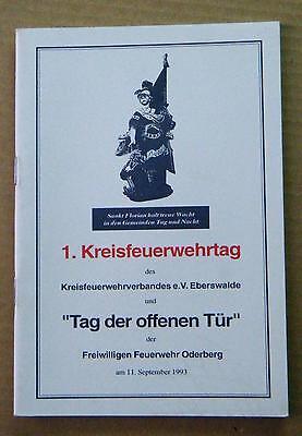 1. Kreisfeuerwehrtag Feuerwehrverband Eberswalde Feuerwehr Oderberg Chronik 1993