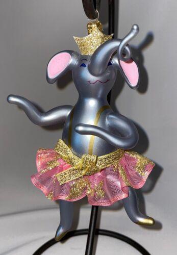 Christopher Radko Mercury Glass  Nanette En Pointe Italian Elephant  1995