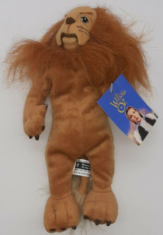 Cowardly Lion Beanie~Warner Bros Wizard of Oz Plush Toy~1998 NWT.