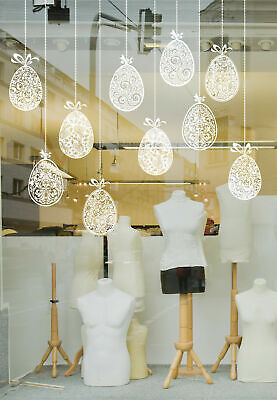 10 Beautiful 'Hanging' Eggs Easter Window Decorations for Shop Window Displays](Easter Home Decorations)