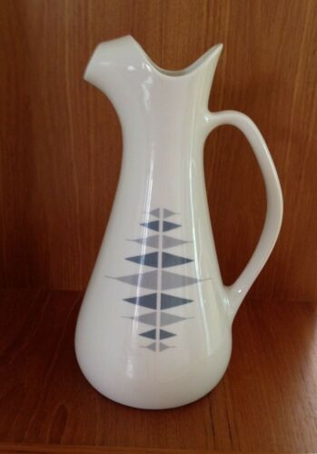 Iroquois~Impromptu~Ben Seibel~ Blue and Gray~Triangles~MCM~Atomic~Water Pitcher