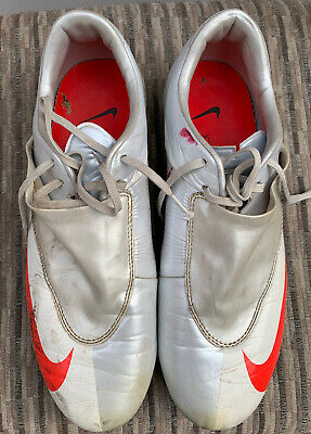 Nike Mens Rare Mercurial Vapor V FG 354555 061 White Red Soccer Cleats Size 8