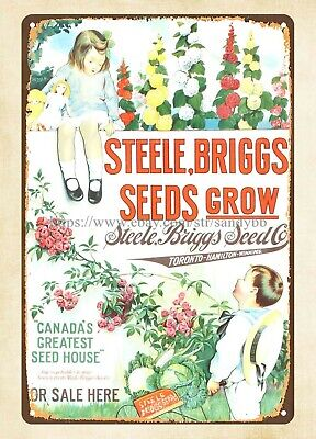 vintage reproductions for sale Steele Briggs Seeds metal tin sign
