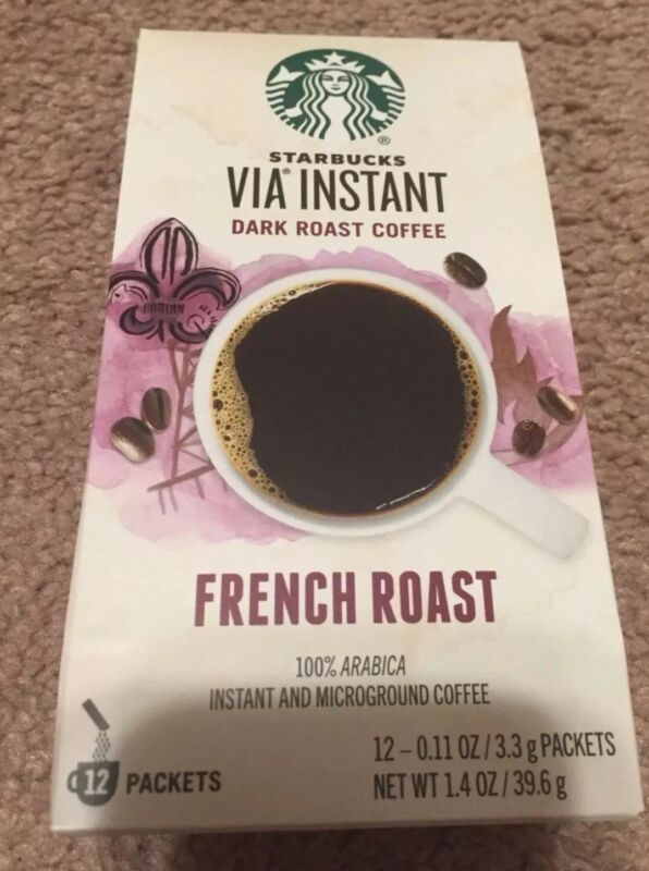 6-pack Starbucks Via Instant French Roast Dark Roast Coffee - 72 total packets